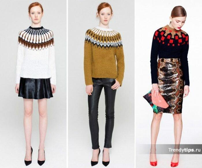 Модные свитера осень 2016 женские фото