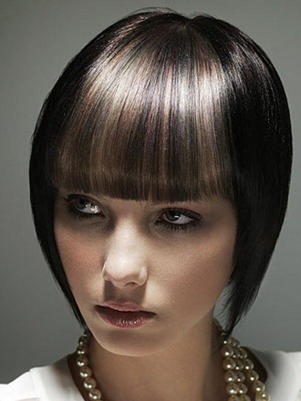 Мелирование темных волос фото до и после
