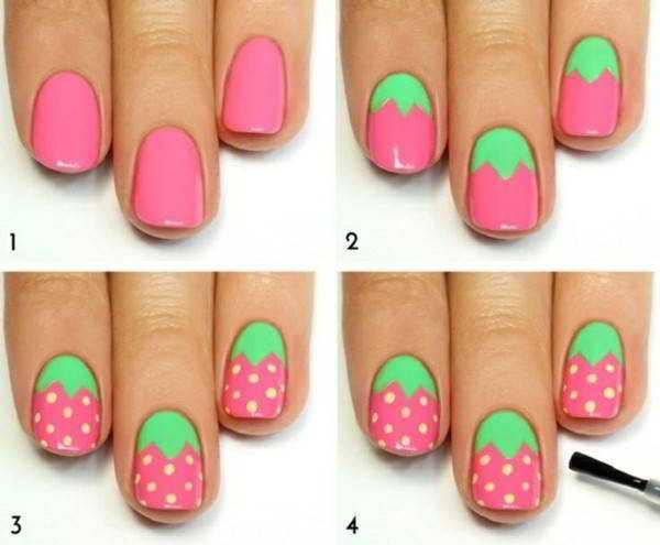 Рисунки на ногтях кисточкой