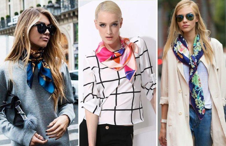 Как красиво завязать платок на шее: 40 фото идей, видео